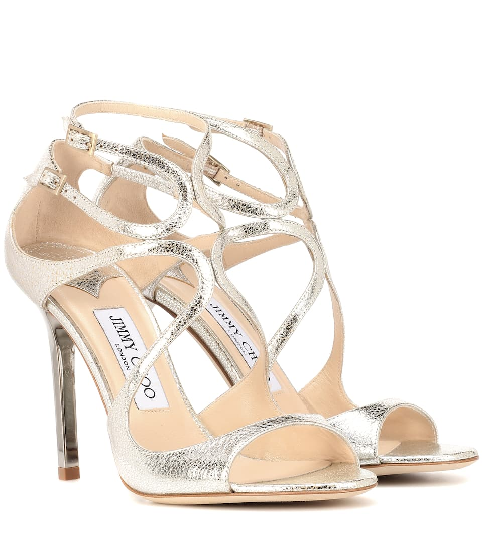 562d4abc148 Lang Metallic Leather Sandals
