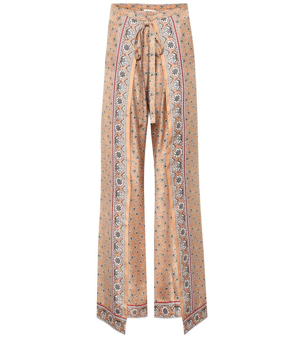 87d64f6ee76f Bandana-Printed Silk Twill Pants - Chloé