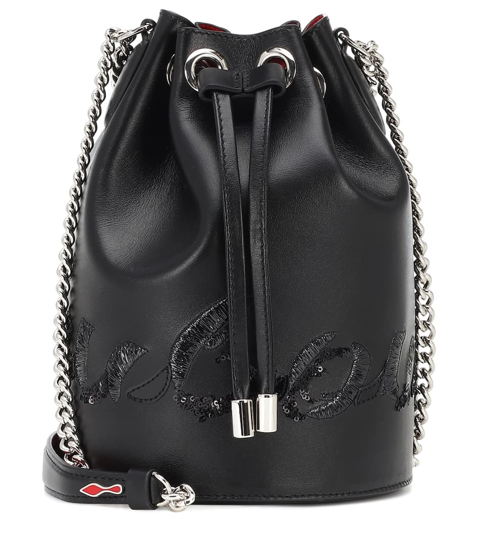 Marie Jane Leather Bucket Bag by Christian Louboutin