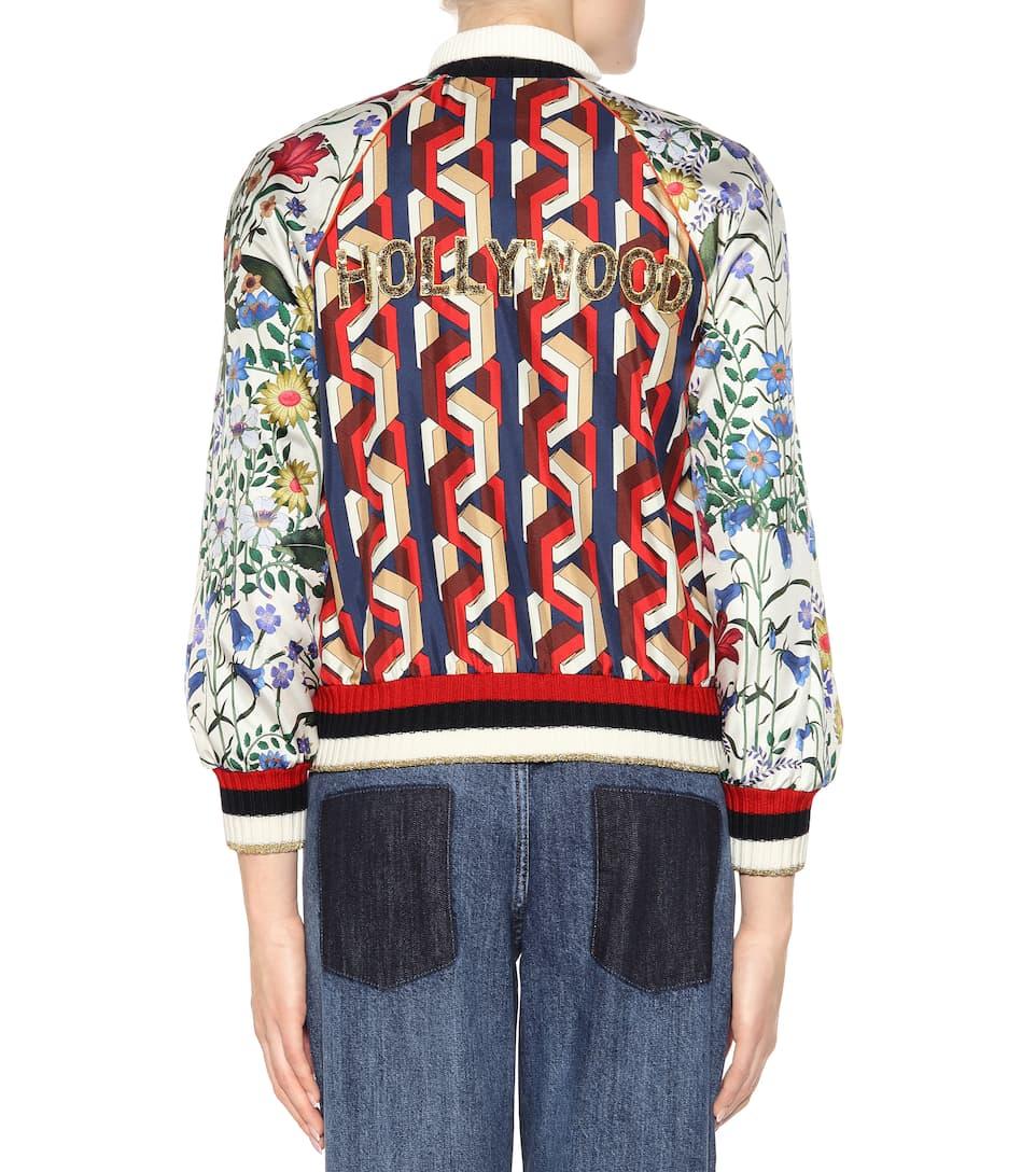 Gucci Bomberjacke aus Seide Billig Extrem Suche Nach Online Bester Verkauf Günstiger Preis 0oFLszMBPb