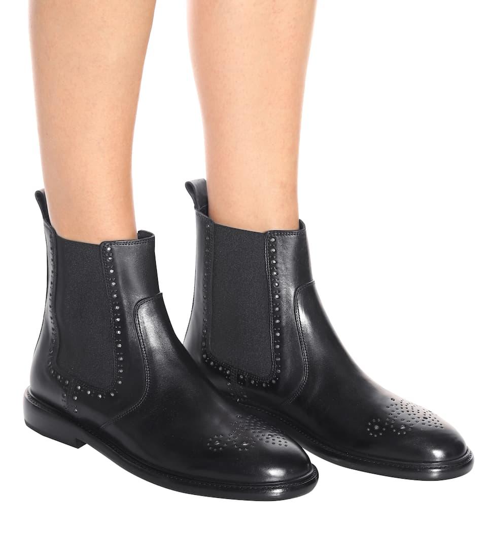 Ankle Isabel Isabel Boots Marant Marant Leder Chelaya aus Ankle 1xnwqW7