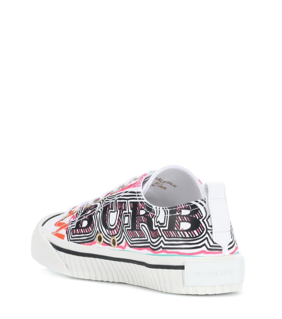 Burberry Bedruckte Sneakers aus Leder