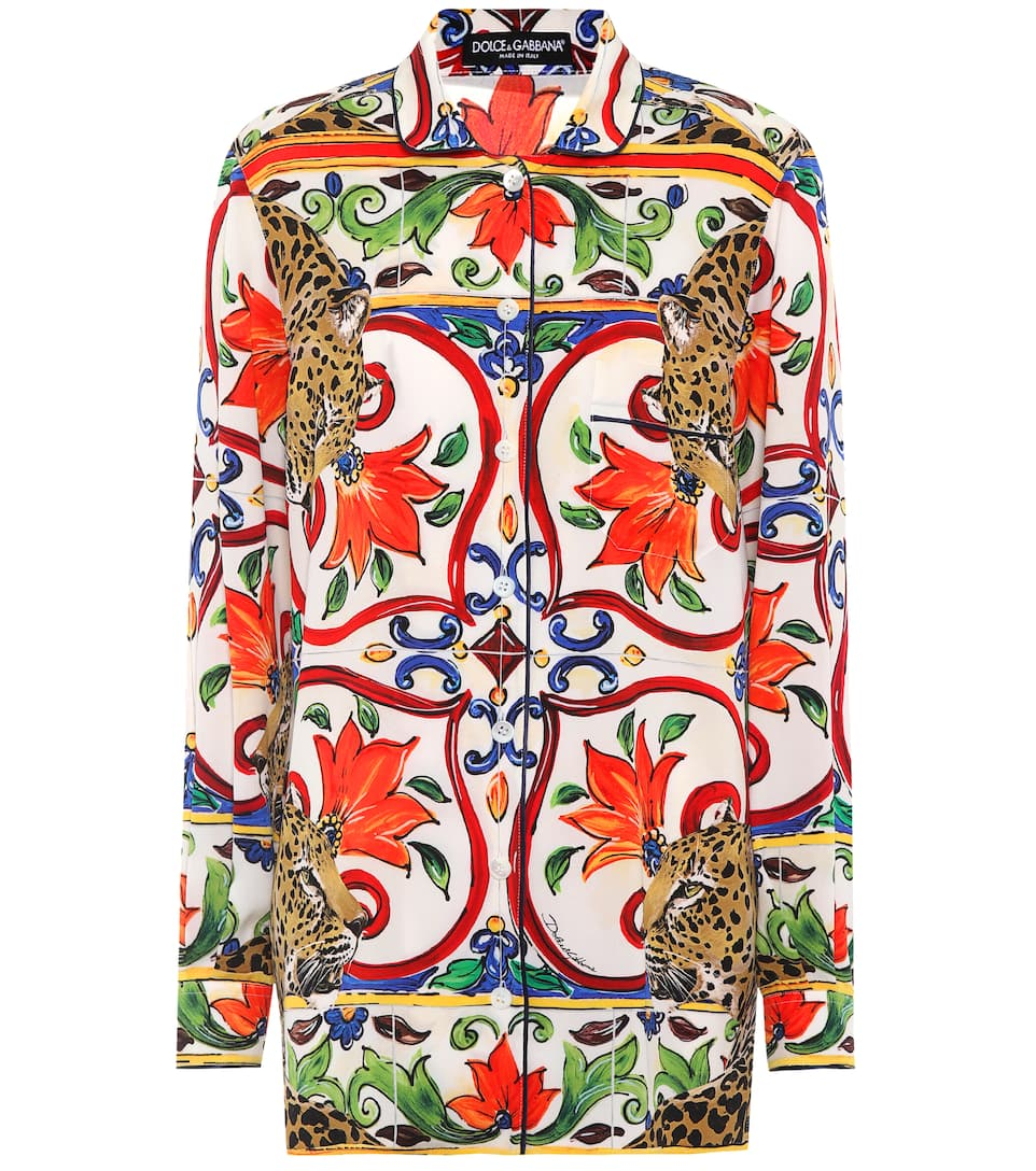 Dolce & Gabbana Bedruckte Bluse aus Seide