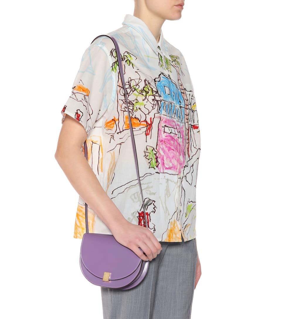 Victoria Beckham Schultertasche Half Moon Box aus Leder