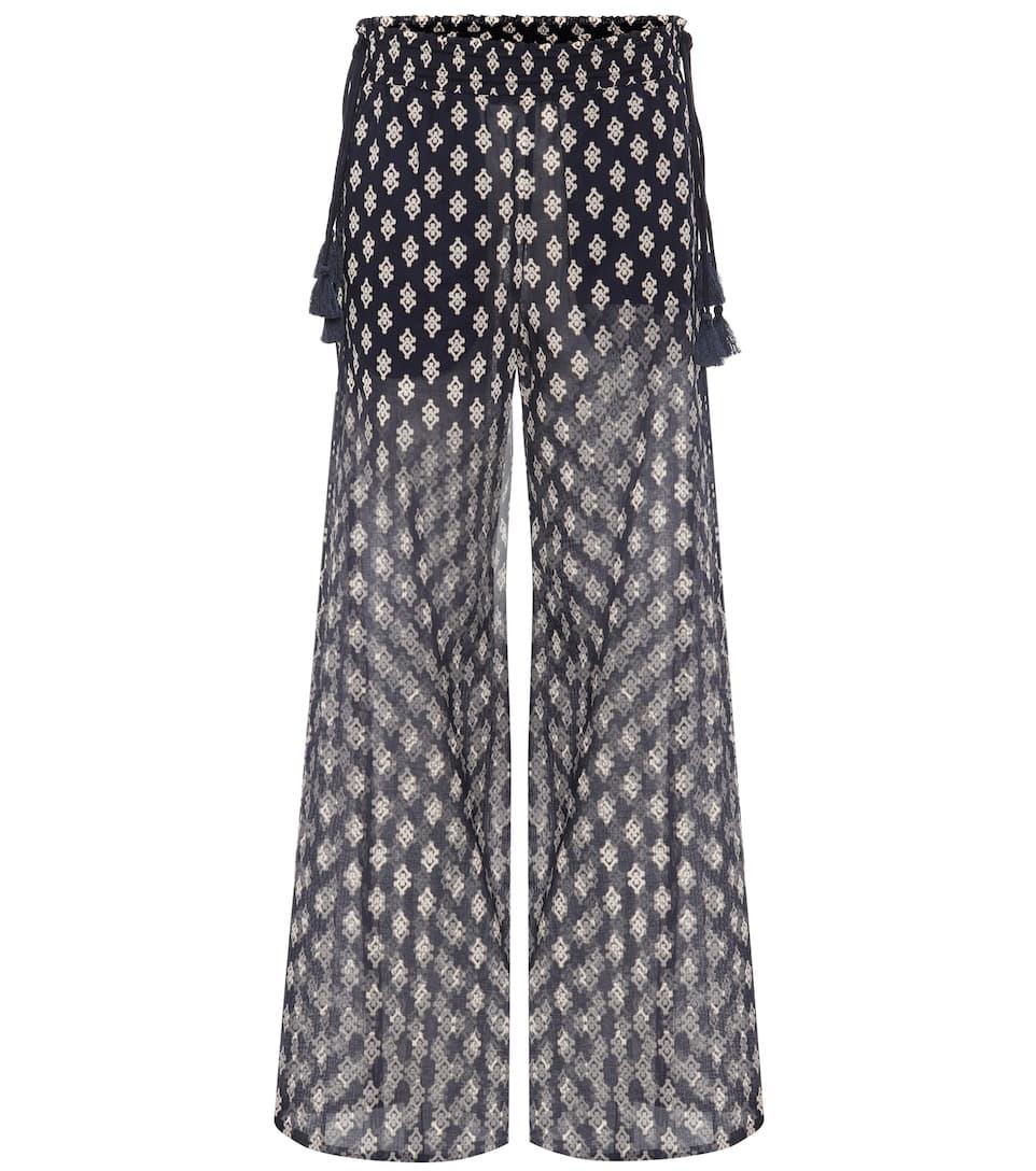 Double Diamond cotton trousers Tory Burch C5wyc741