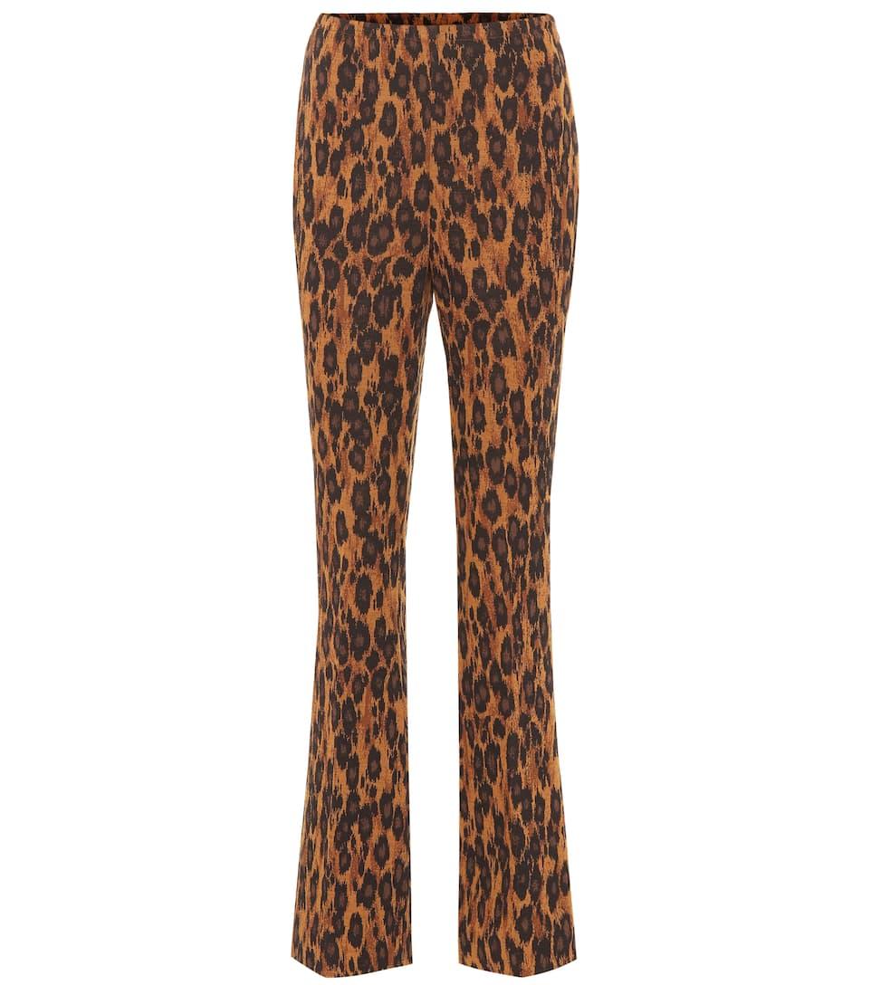 2209e3e1641d High-Rise Flared Stretch-Wool Pants