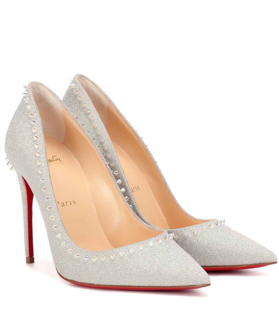 separation shoes 802c5 1f3c1 Anjalina 100 Embellished Glitter Pumps - Christian Louboutin ...
