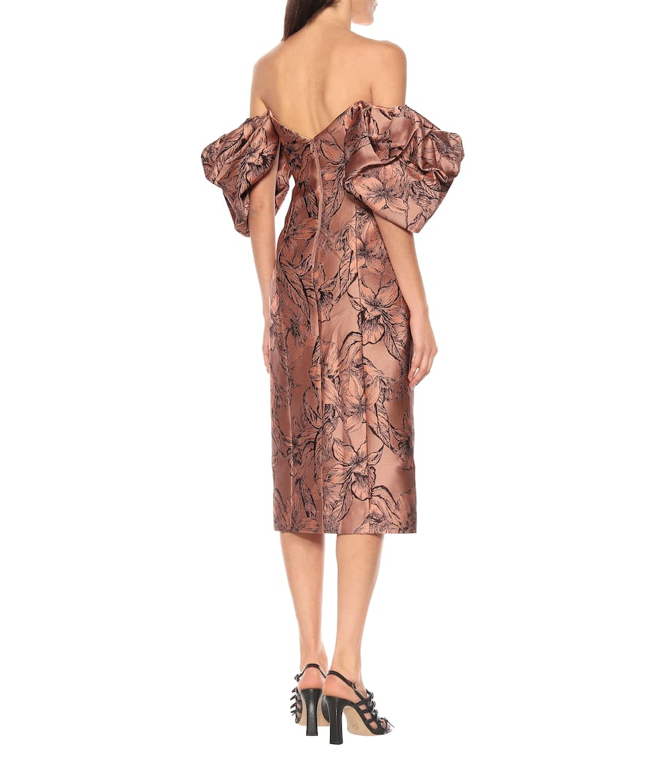 Johanna Ortiz - Synchronicity silk-blend midi dress