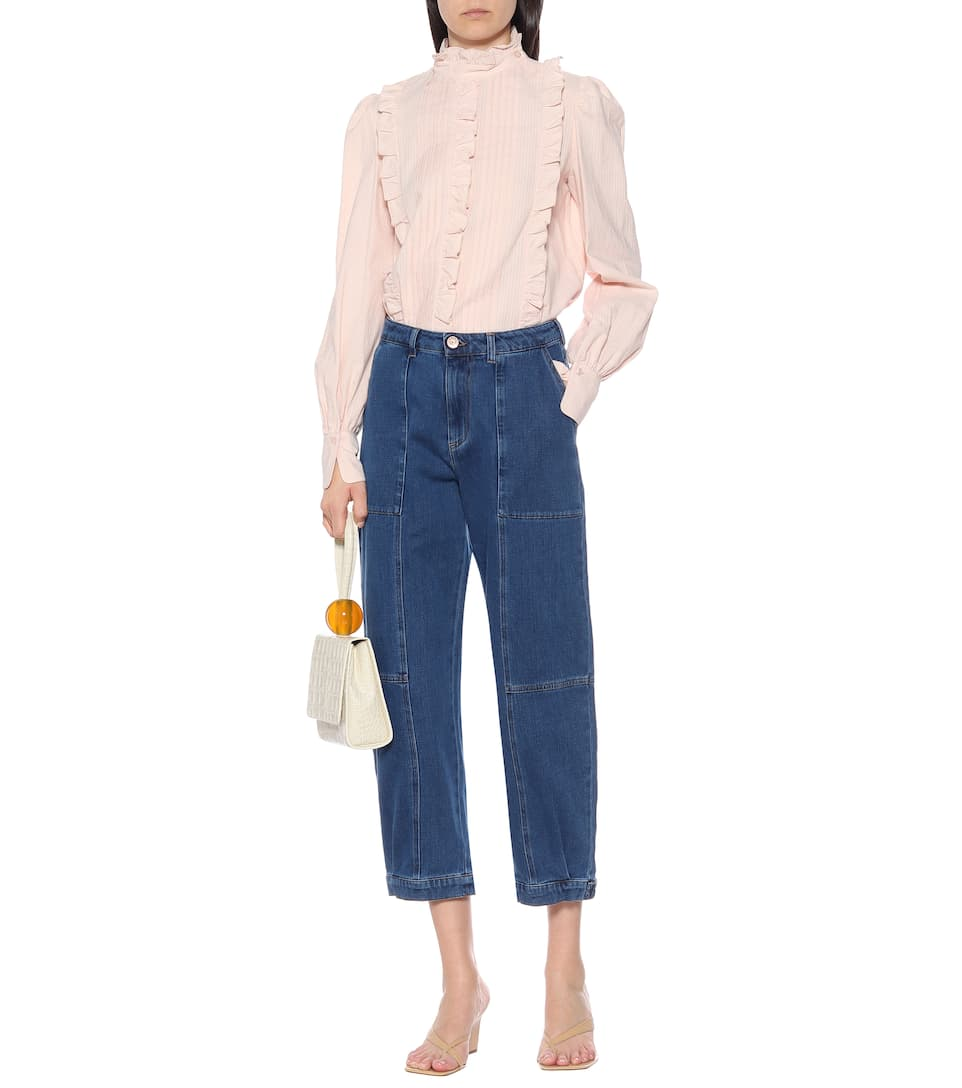 See By Chloé - High-rise stretch-denim jeans