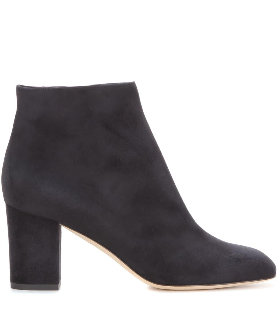 Loro Piana Ankle Boots Liza aus Veloursleder