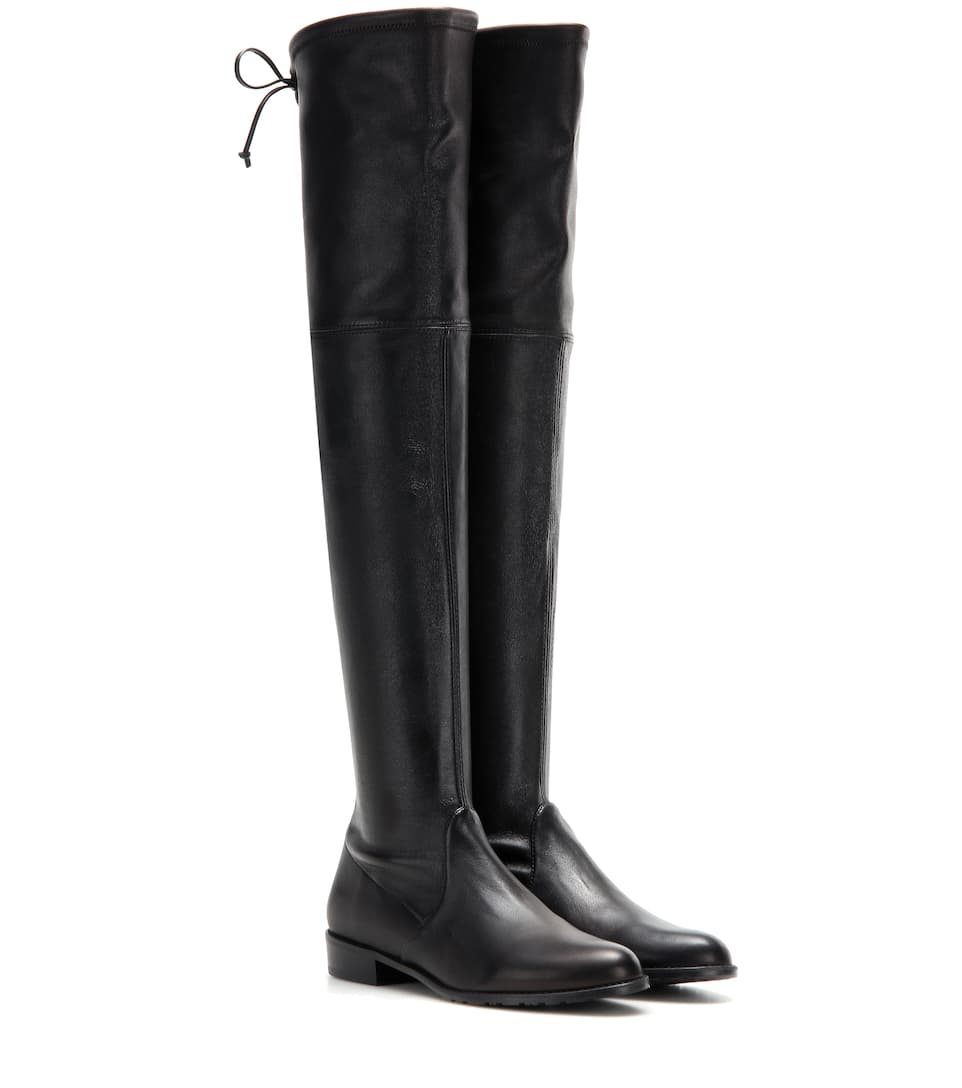 Stuart Weitzman Lowland Skimmer leather over-the-knee boots