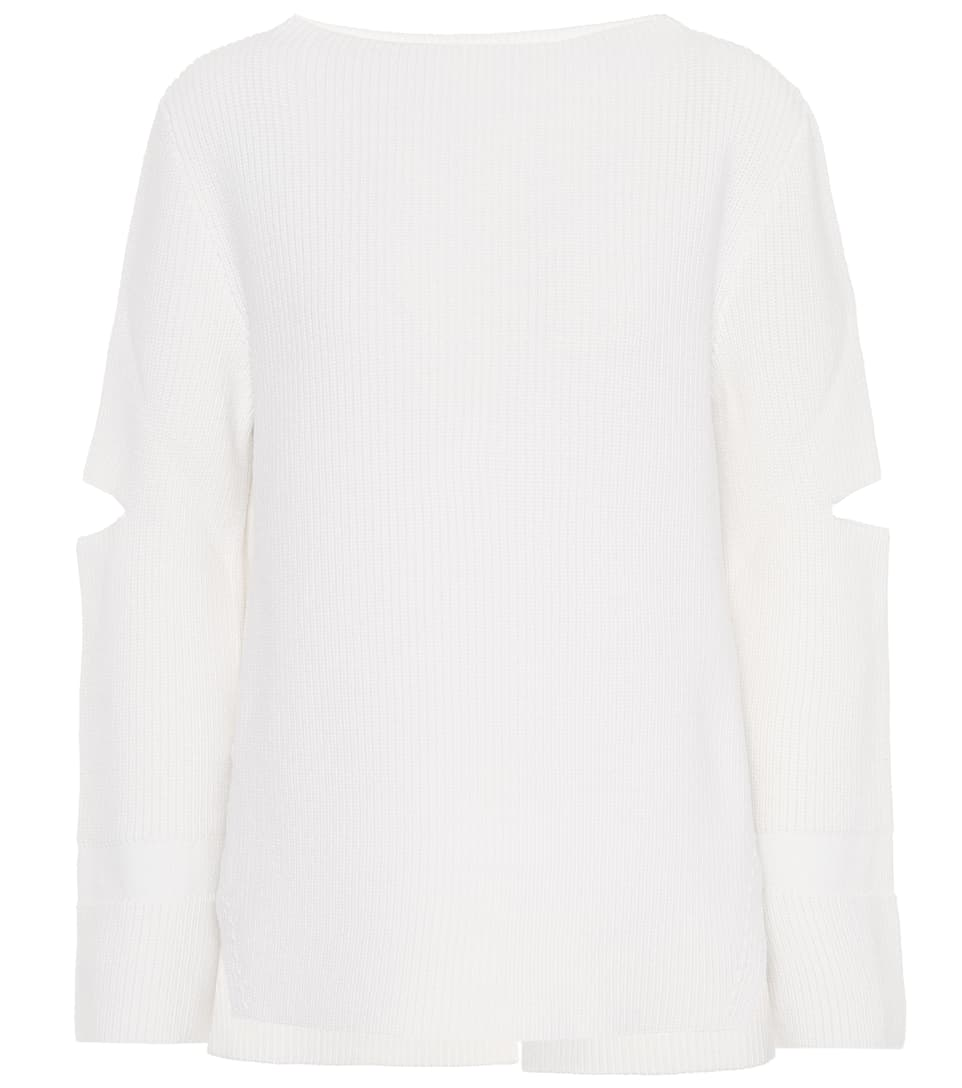 Stella McCartney Strickpullover aus Wolle mit Cut-outs