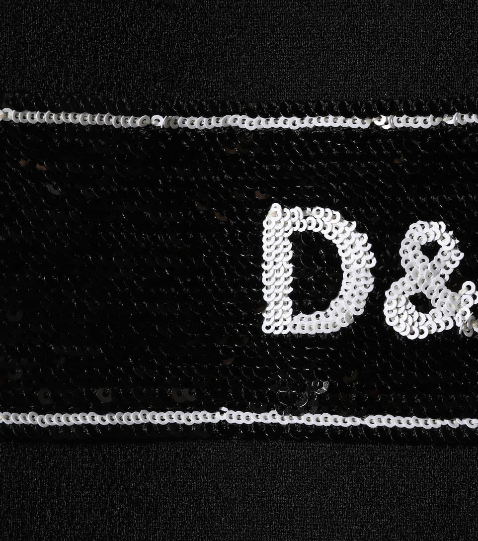 Dolce & Gabbana - Robe trapèze en laine et sequins Acheter Pas Cher Fiable vM3QOIK