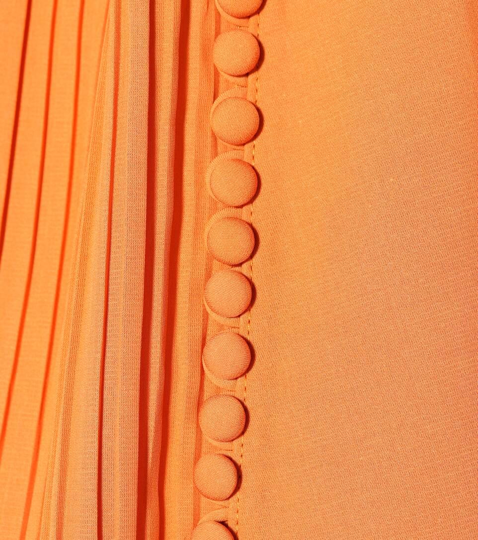 Magda Butrym Kleid Assisi aus Seide und Baumwolle