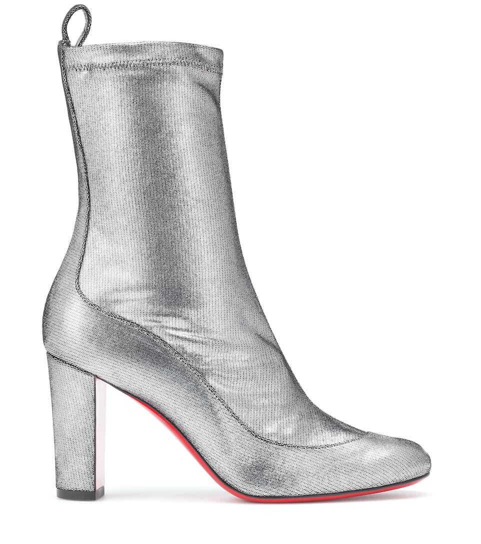 320b191cc91e Gena 85 Metallic Leather Boots - Christian Louboutin