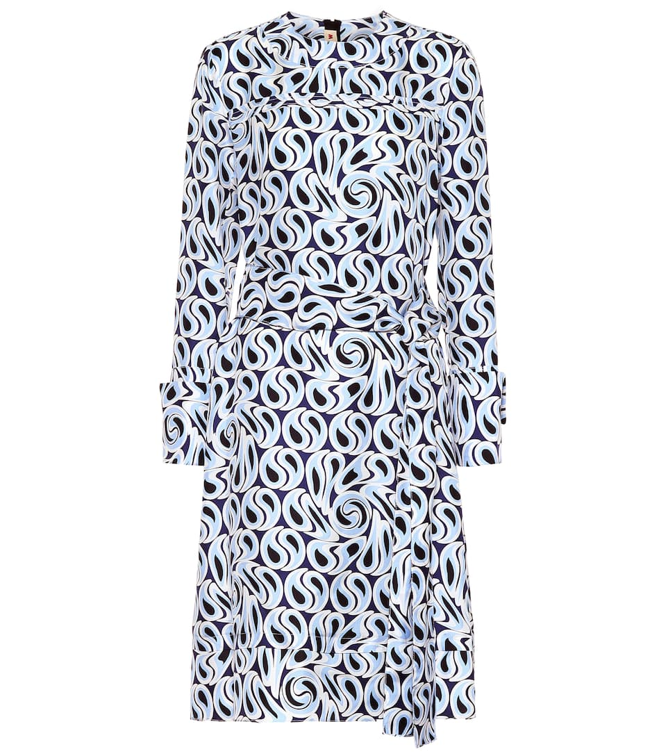 Robe Imprimée Marni Midi En Soie rBxodeCW