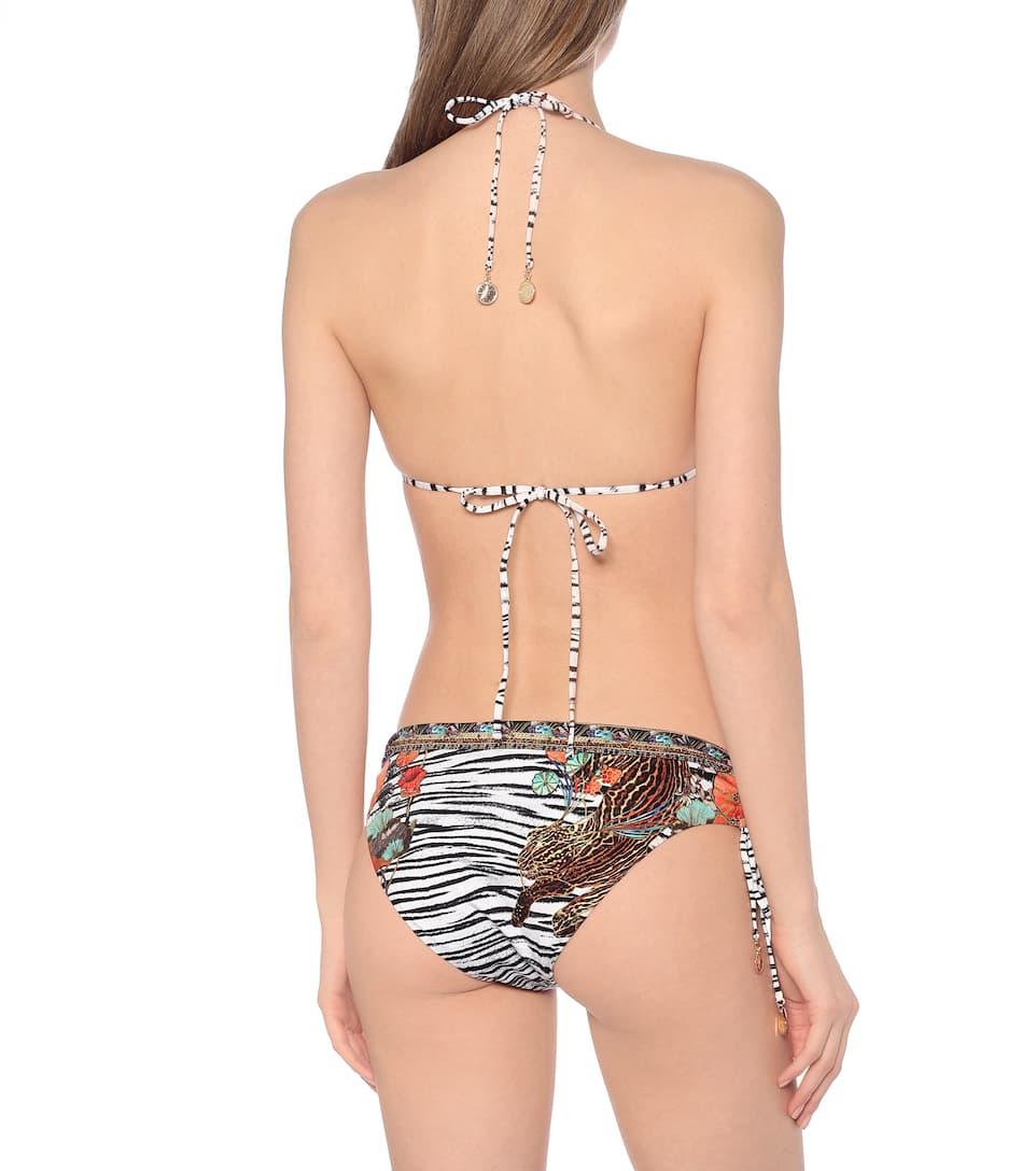 Camilla - Printed bikini top