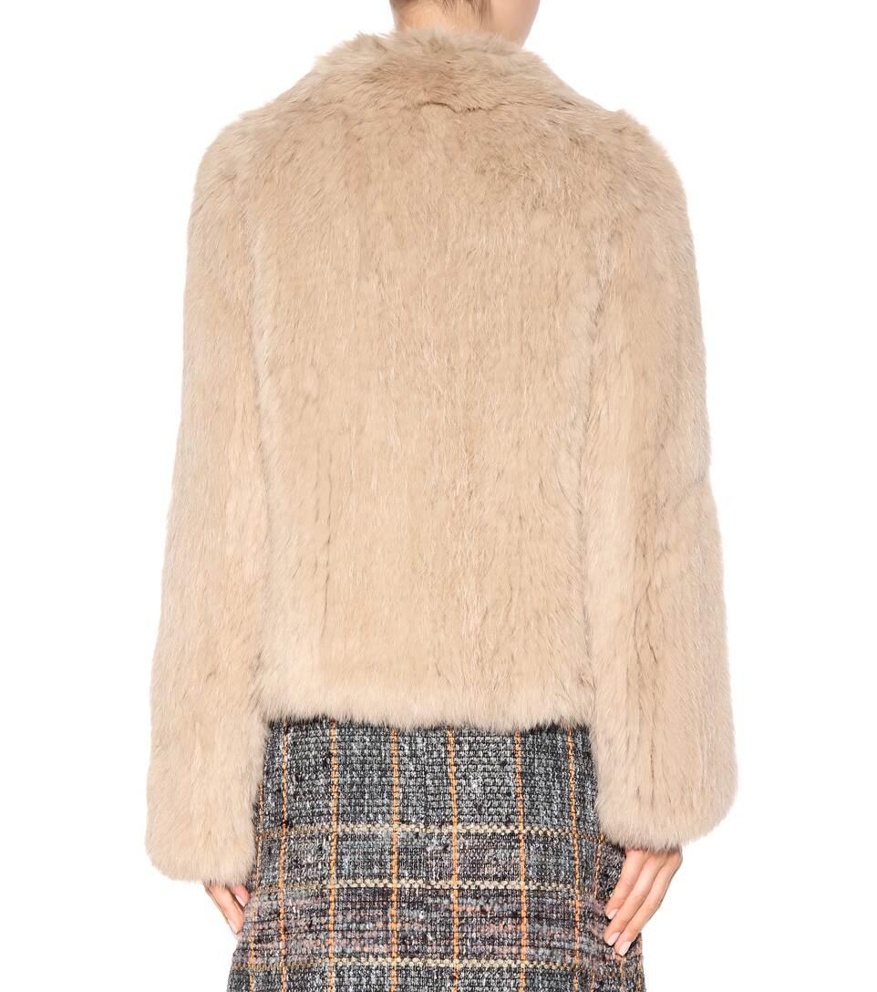 Meteo by Yves Salomon - Knitted fur jacket mytheresa.com