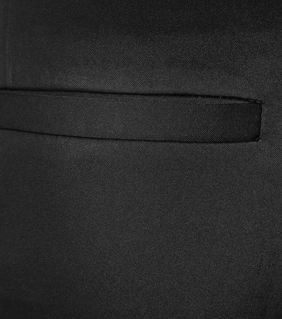 MCQ BY ALEXANDER MCQUEEN SATIN WIDE-LEG TROUSERS, BLACK