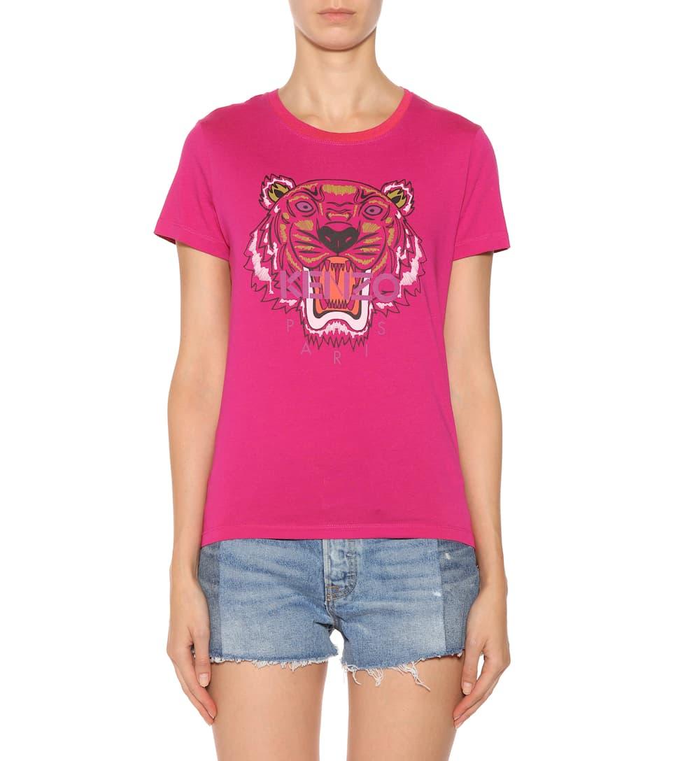 Kenzo Bedrucktes T-Shirt aus Baumwolle