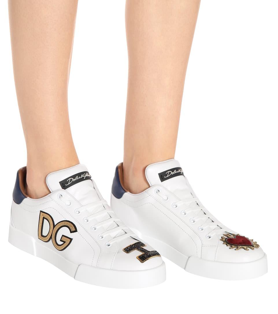 Kostenloser Versand Billig Verkauf 2018 Neueste Dolce & Gabbana Sneakers aus Leder Orange 100% Original Rabatte eaD9vxcY