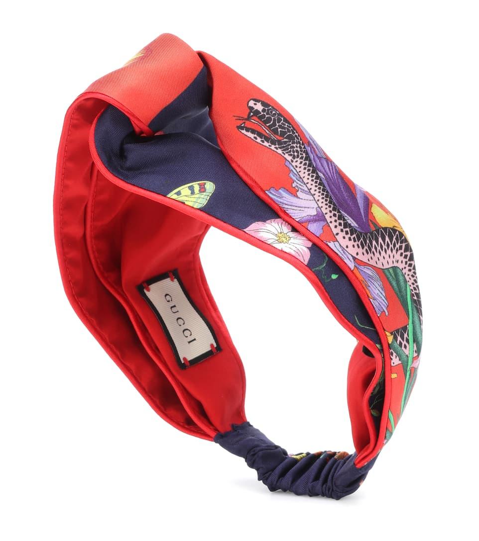e90c55ddde9 Printed Silk Headband - Gucci