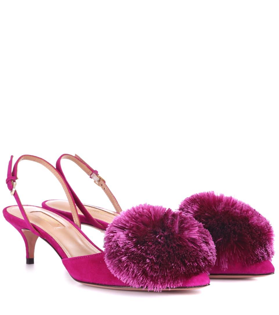 Powder Puff slingbacks - Pink & Purple Aquazzura wX2cuoV