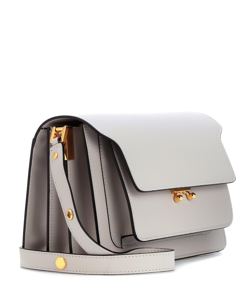 Trunk Leather Shoulder Bag - Marni Sneakernews Vente En Ligne Best-seller De Sortie 37Q4rq
