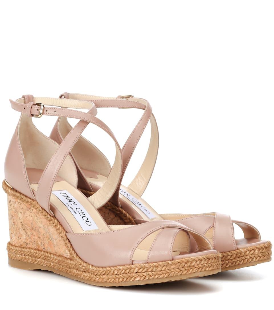 8d18fd84b747 Alanah 80 Leather Wedge Sandals