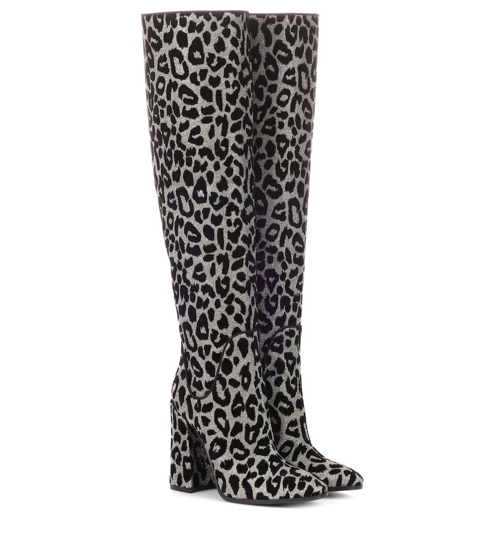 super popular shop official Dolce & Gabbana - Leopard over-the-knee boots | Mytheresa
