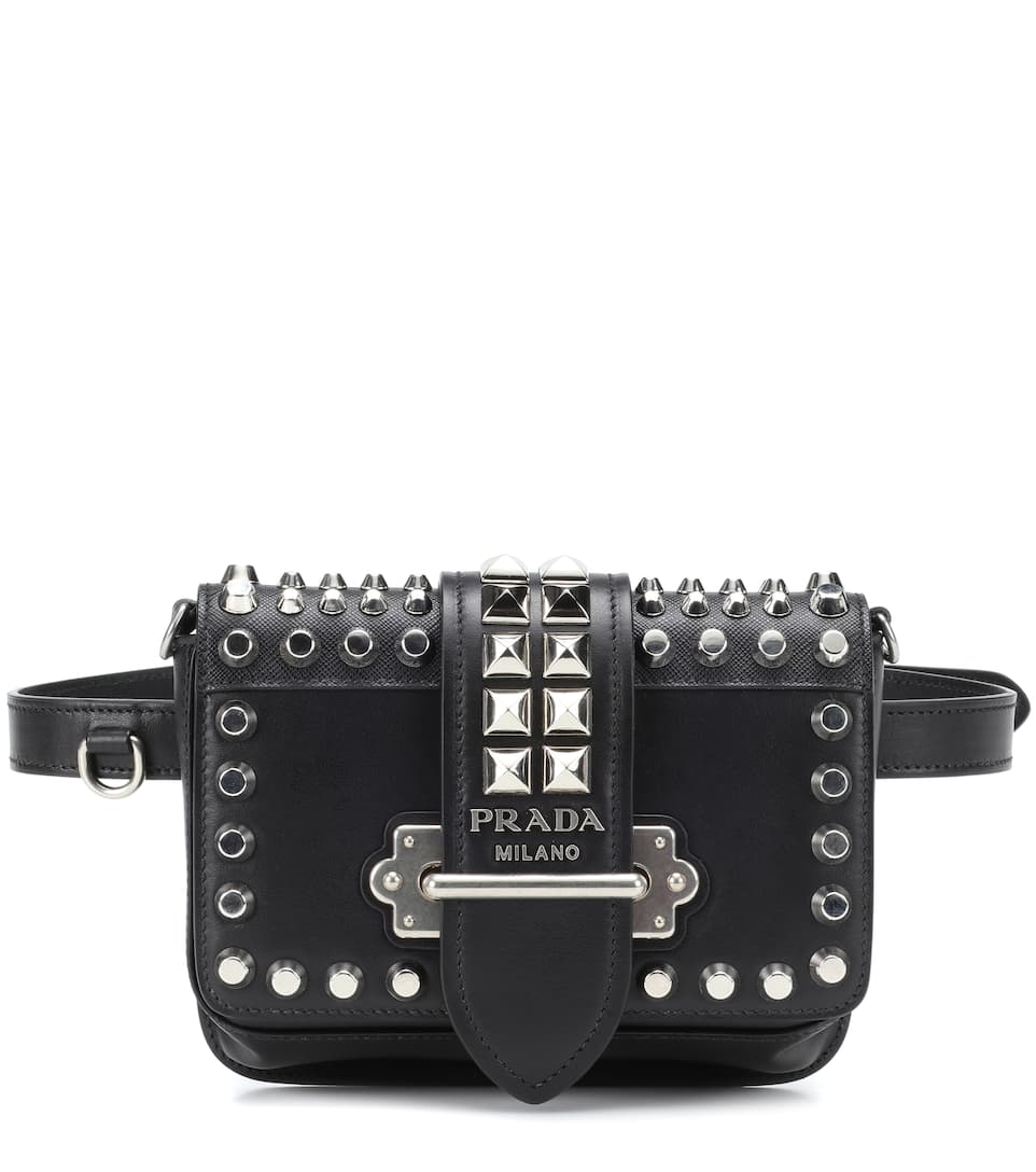 cfa284266830d8 ... cheap cahier studded leather belt bag by prada 4c680 8bc1e