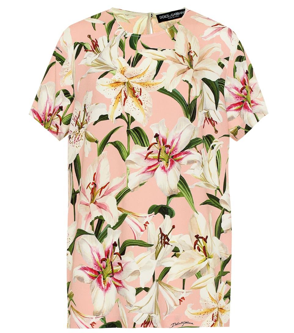 8802c102a6 Dolce & Gabbana - Floral cady-crêpe top | Mytheresa