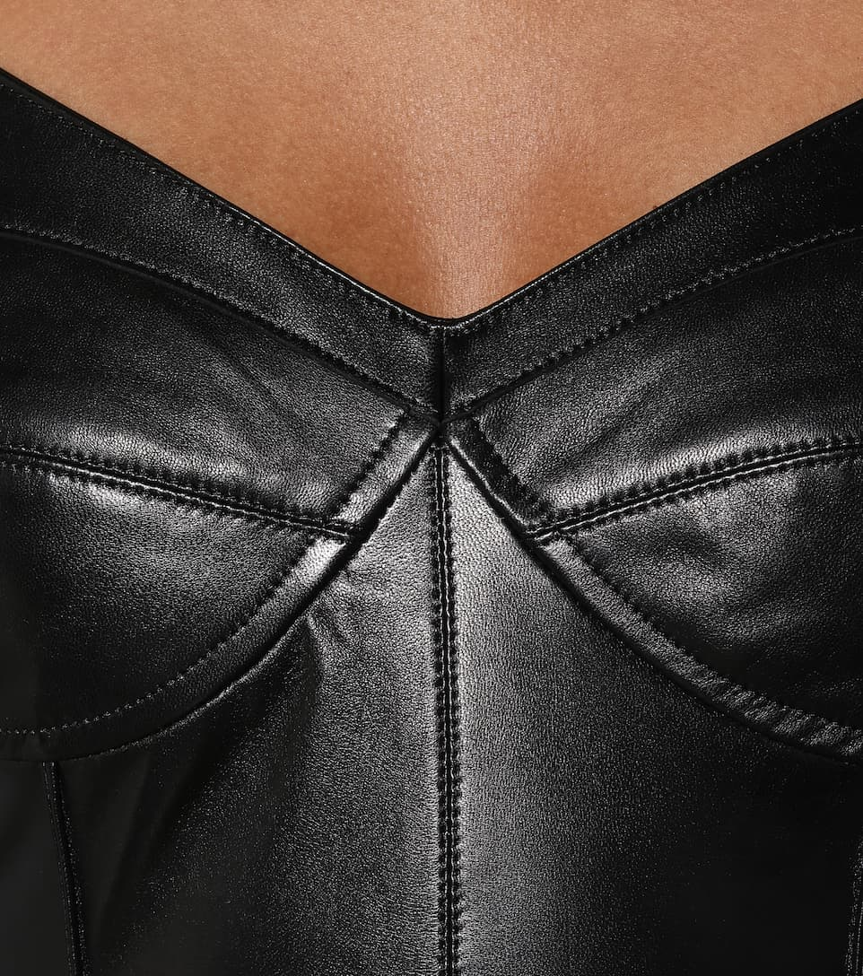 Isabel Marant - Xanti leather bustier top