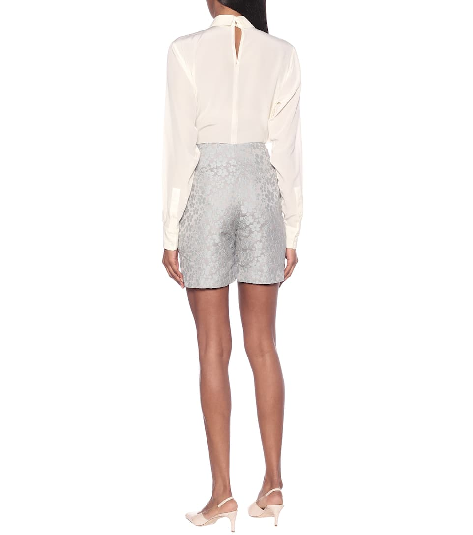 AlexaChung - High-rise jacquard shorts