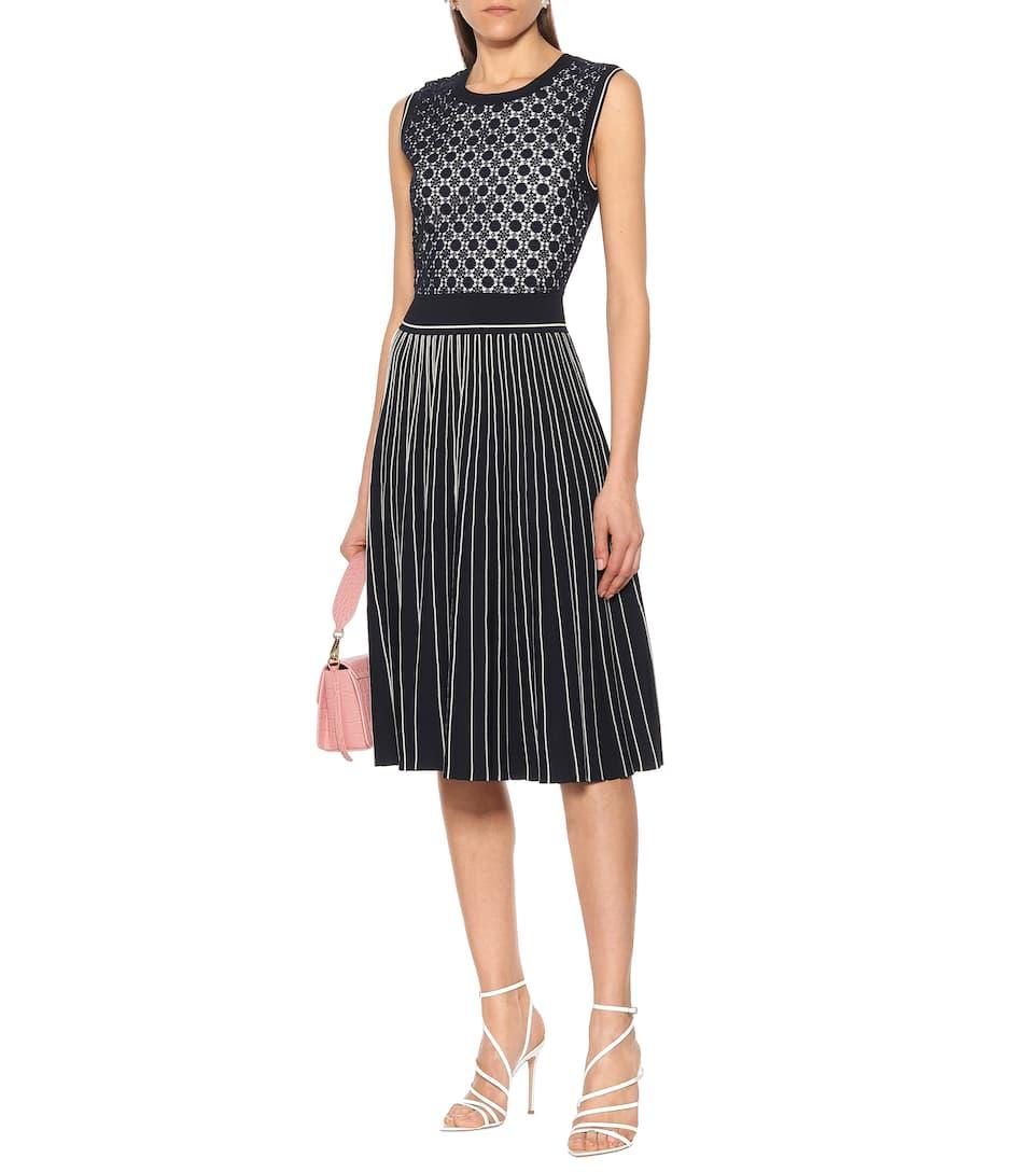 Tory Burch - Cotton-blend jacquard midi dress
