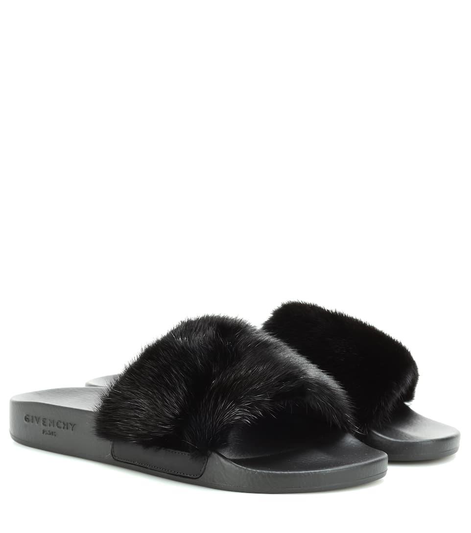 Givenchy Givenchy Givenchy Black slides Givenchy Black slides slides Fur slides Black Fur Fur Fur Cw5qnUxSW