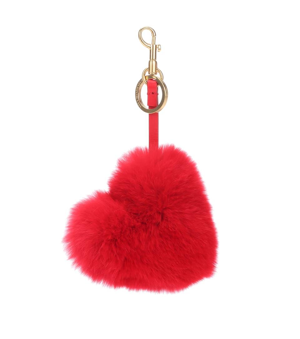 Anya Hindmarch Tassel Heart Keychain t16GxkGMbO