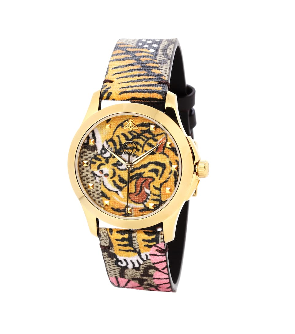Bengal Print Watch by Gucci