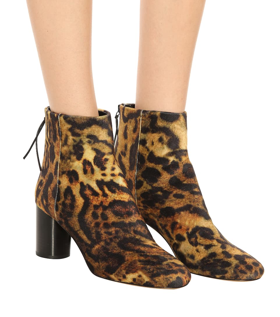 Isabel Marant Ankle Boots Ritza mit Leopardenmuster