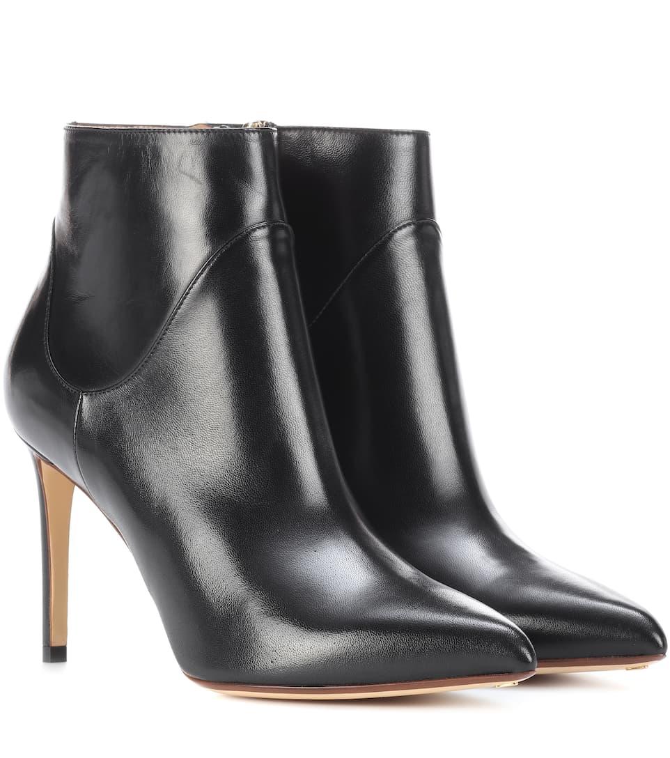 Auslasszwischenraum Francesco Russo Spitze Ankle Boots aus Leder Echte Online Webseite Günstiger Preis rIH94