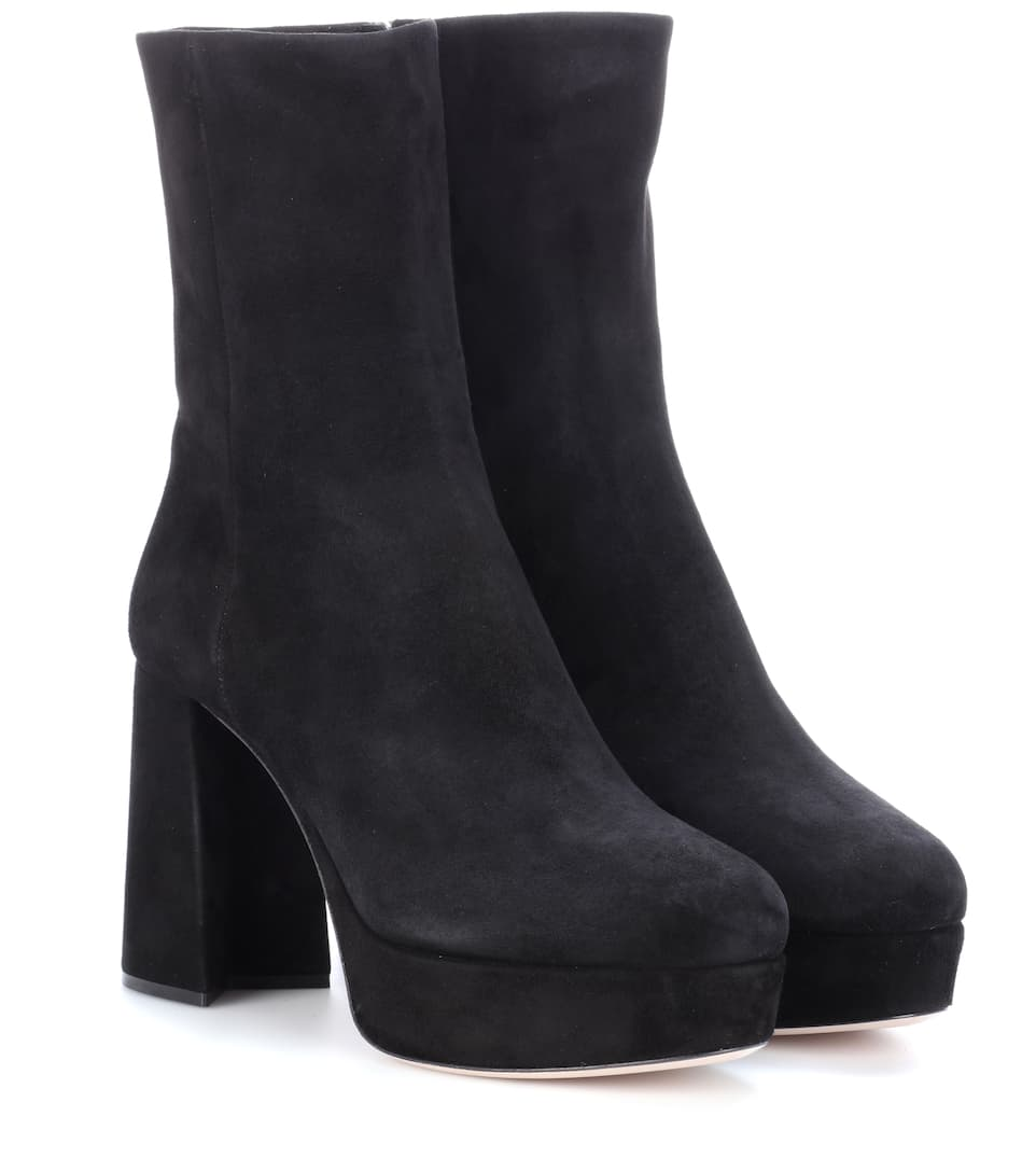 Suede Suede Plateau Ankle Boots Plateau Ankle Ankle Miu Miu Suede Plateau Boots 3A54jcRLq