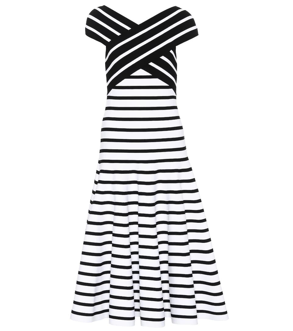 Carolina Herrera Gestreiftes Kleid