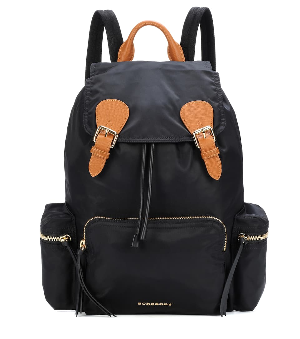 The Large Leather Trimmed Backpack by Burberry
