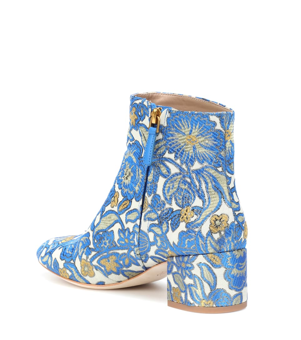 Tory Burch Ankle Boots Shelby 50 aus Brokat