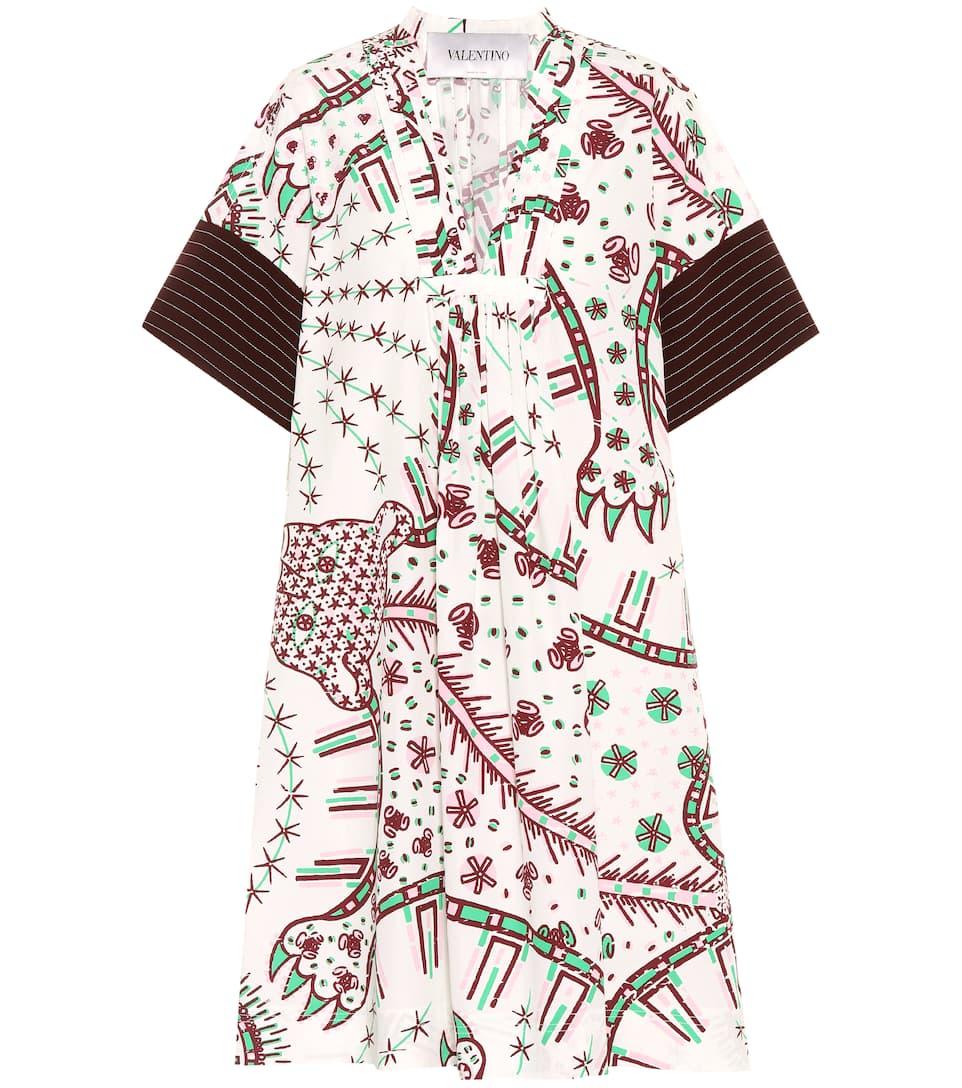 Valentino Bedrucktes Kleid aus Baumwolle