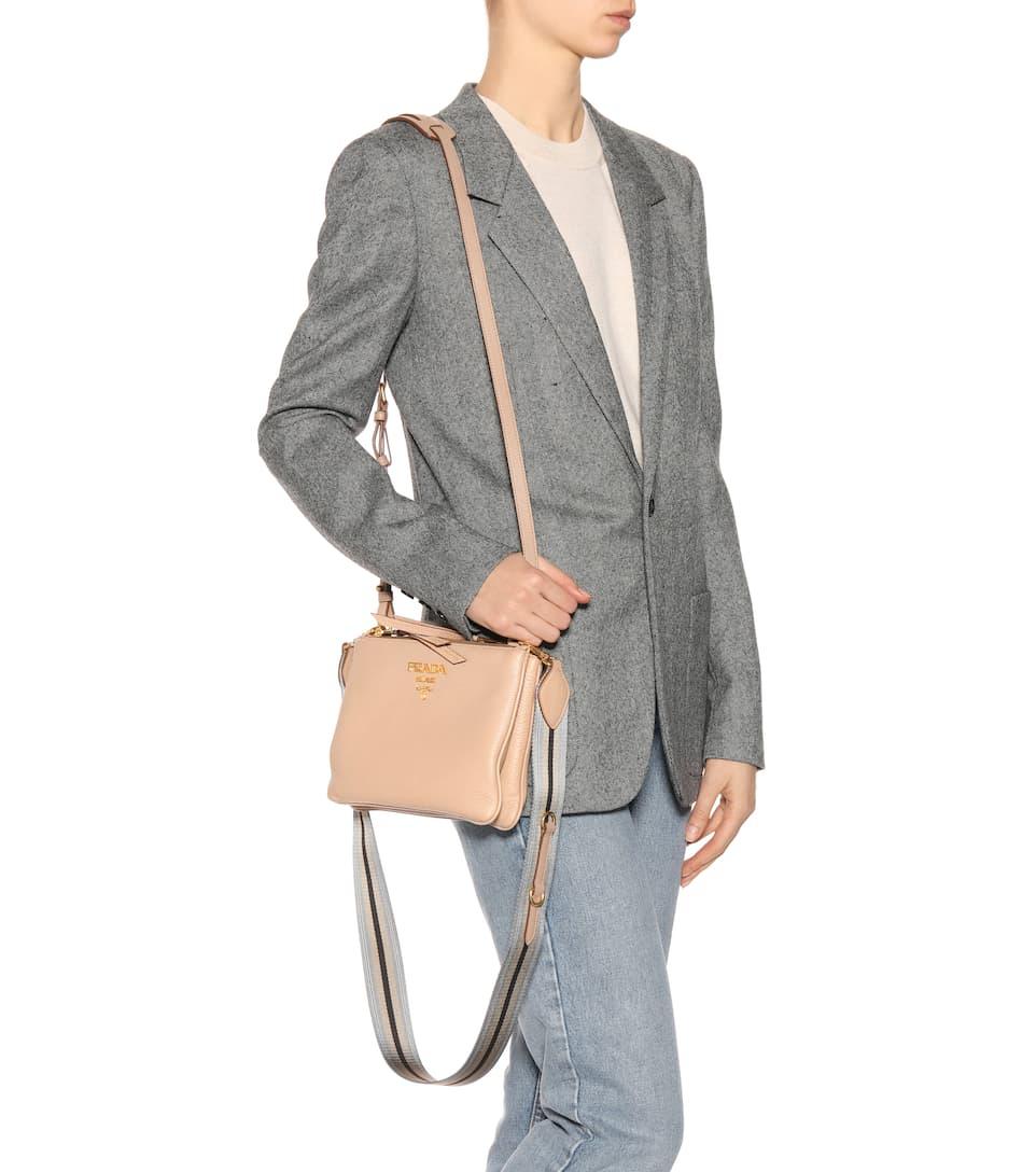 Prada Crossbody-Tasche Daino aus Leder Verkaufsshop 6k2iU
