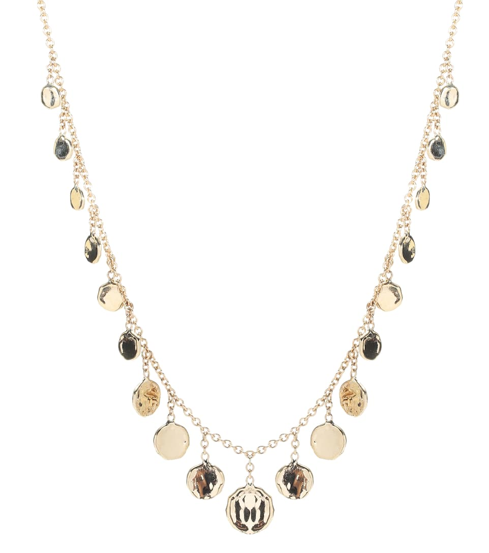 Collier En Or 14 Ct Graduated Disc Drop - Jacquie Aiche