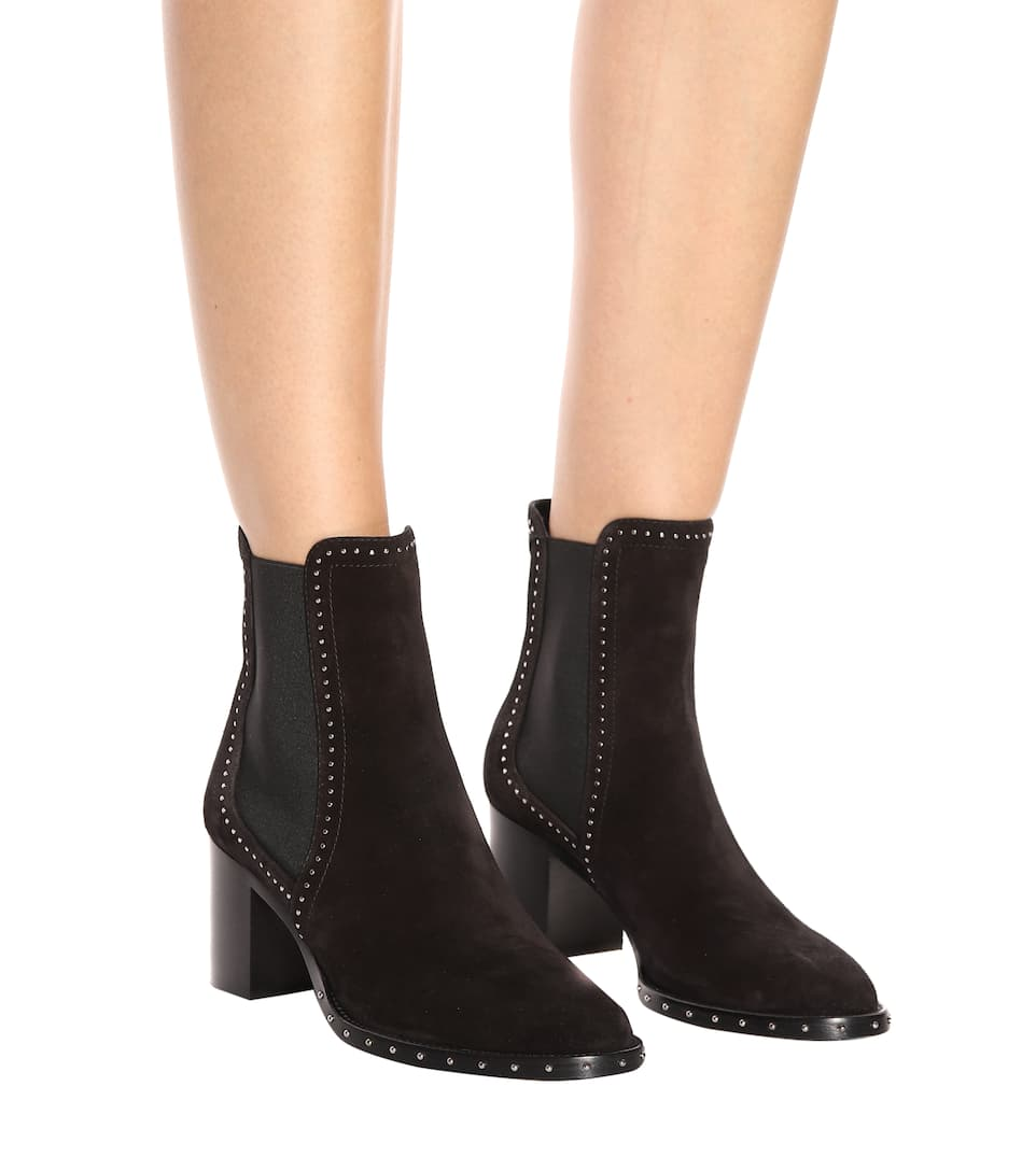 Jimmy Choo Merril 65 suede ankle boots Black/Silver Outlet With Credit Card Countdown Package Cheap Price Outlet Fashionable jga2m4DxY