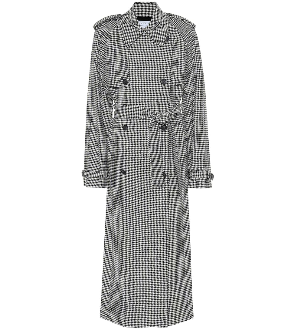 Lorna Houndstooth Wool And Cashmere Coat, Black