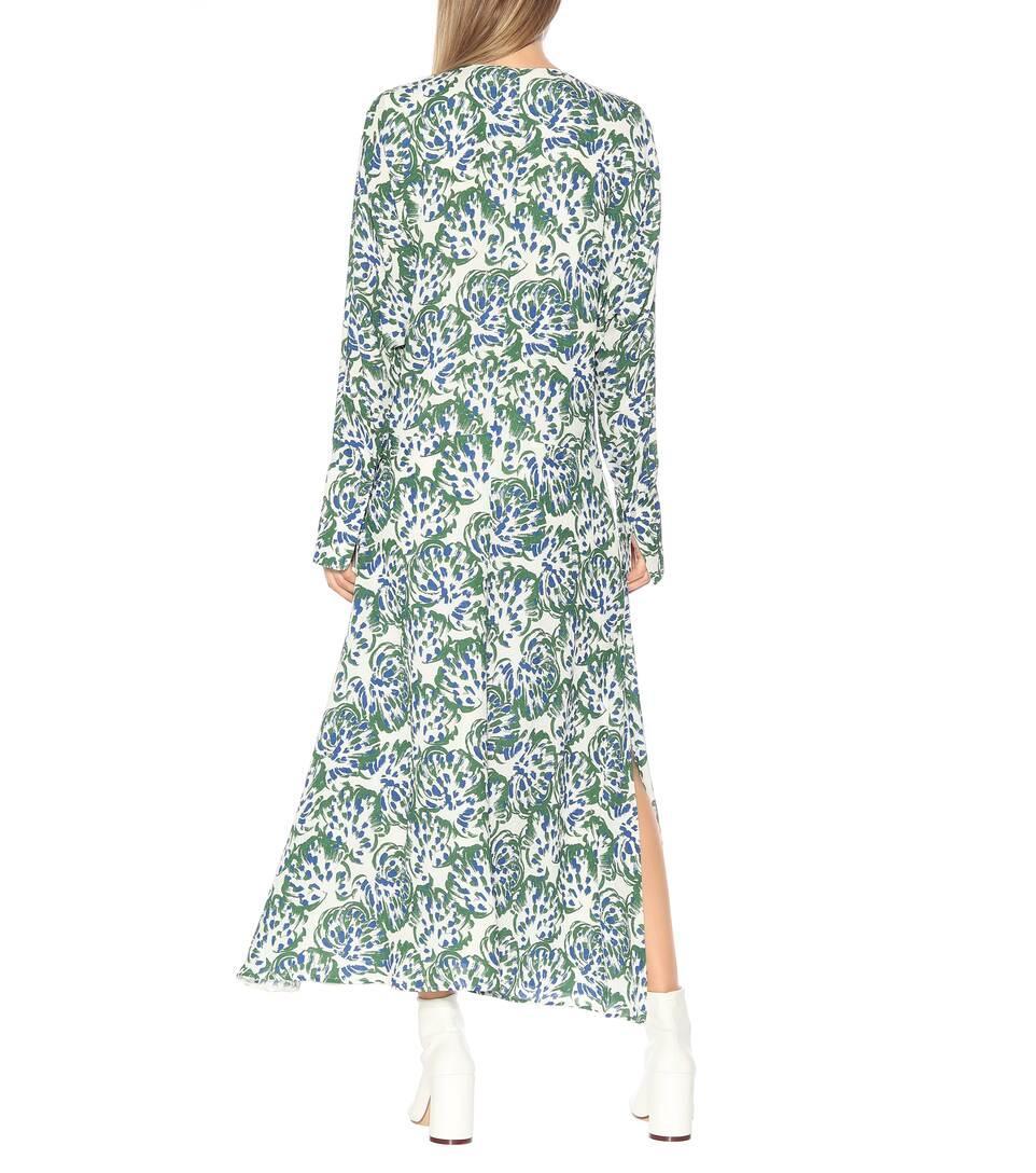 Victoria Beckham Imprimée Crêpe Robe En Midi uJ5l1c3TFK